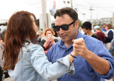 Dancing Pinchapalooza outdoor festival